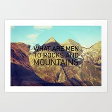 Mountains and Men Art Print