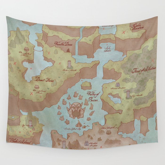 Super mario world map vintage style wall tapestry by kazpalladino super mario world map vintage style wall tapestry gumiabroncs Gallery