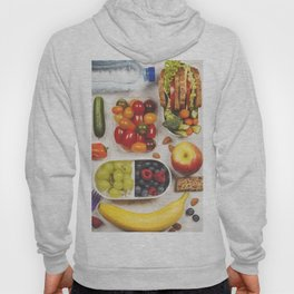 Healthy lunch box with sandwich and fresh vegetables Hoody