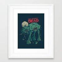 dead Framed Art Prints featuring Walker's Dead by Victor Vercesi
