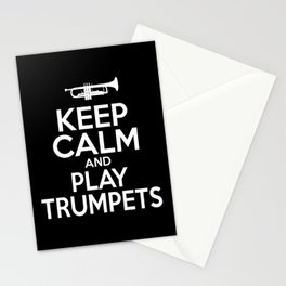 Keep Calm And Play Trumpets Trumpeter Stationery Cards