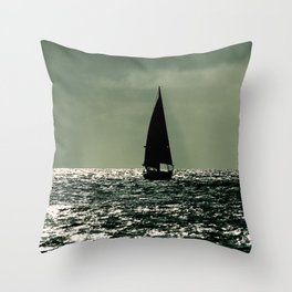 Sailboat Mexico Throw Pillow