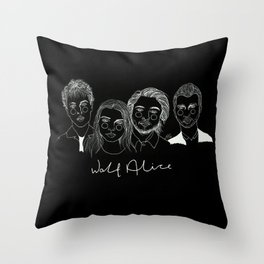 Wolf Alice (Inverted) Throw Pillow