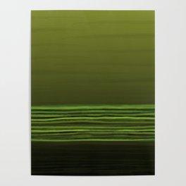 Horizon (olive green) Poster