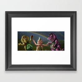Barney & Friends Framed Art Print