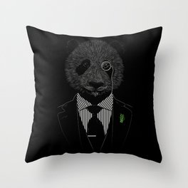 Sir Panda Throw Pillow