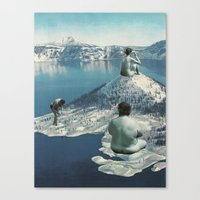 nudes Canvas Prints featuring Arctic Nudes by KUBISM