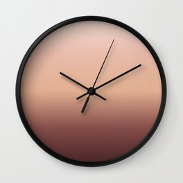 Coffee and Cream Gradient Wall Clock