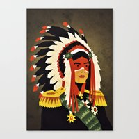 general Canvas Prints featuring General Chief by Yetiland