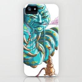 alice in wonderland hookah smoking caterpillar iPhone Case