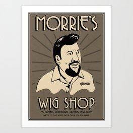 Goodfellas, Morrie's Wigs Shop Sign  Art Print