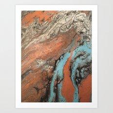 Blue Lagoon Art Print
