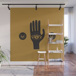 Golden Third Eye Palm Wall Mural