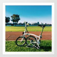 brompton Art Prints featuring Brompton by Juan Lyn