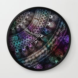 Galaxy Mandala Wall Clock