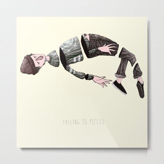 falling to pieces Metal Print