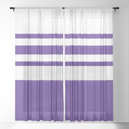 Northwestern Football Color Sheer Curtain