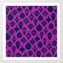 Ornaments 1.0 Bright Purple by oldurbanfarmhouse