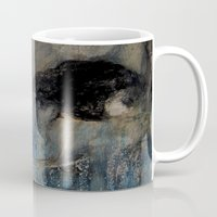 imagerybydianna Mugs featuring dreaming in tennyson's tower by Imagery by dianna