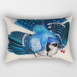 Blue Jay Display Rectangular Pillow