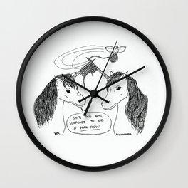 KNITTING UNICORNS Wall Clock