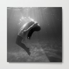 Underwater Peace Metal Print