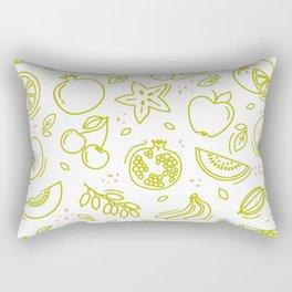Sketch mixed fruits seamless summer pattern background vector format Rectangular Pillow