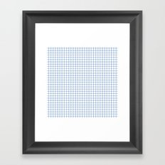 Blue on White Grid Framed Art Print