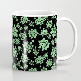 Water caltrop pattern - green Coffee Mug