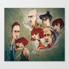 Mi Familia vs Mi Pareja Canvas Print