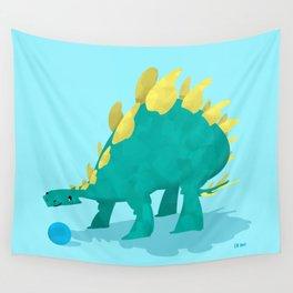 Stegosaurus and his Ball Wall Tapestry