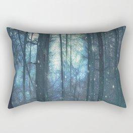 The Woods In Winter Rectangular Pillow