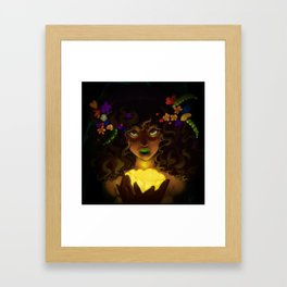 Curly and floral Framed Art Print