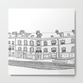 Street Corner in Le Mans, France Metal Print