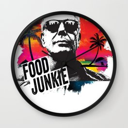 Food Junkie Wall Clock