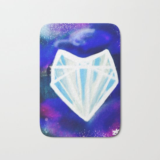 Hearts or Diamonds, I'll Take Diamonds Bath Mat