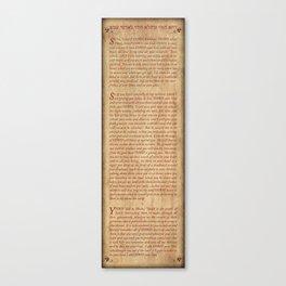 Shema - Antique Paper Background Canvas Print