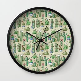 Salty Cacti Wall Clock
