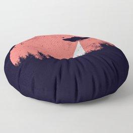 flying saucer Floor Pillow