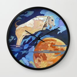 The Cow Jumped Over the Moon Wall Clock