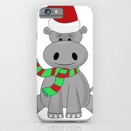 Holiday Hippo Christmas Santa Hippo iPhone Case