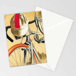 Vintage Italian bicycle race advert Stationery Cards