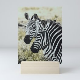 Zebras in the Serengeti Mini Art Print