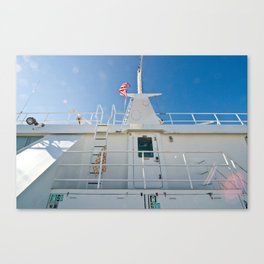 on a boat (one) Canvas Print