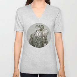 In which nothing says happy birthday like a fish in a suit Unisex V-Neck