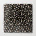 Black Gold Leopard Print Pattern by nlmiller07art