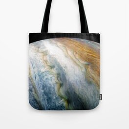 Close up of Planet Jupiter from Juno flyby (2017) Tote Bag