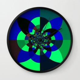 Green Blue Kaleidoscope Wall Clock