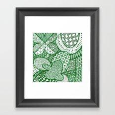 Pure Luck Pattern Framed Art Print