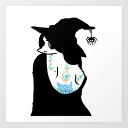 Inked Witch Art Print